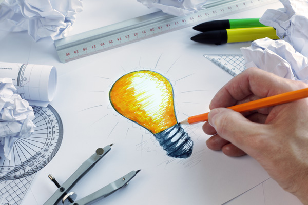 light bulb drawing